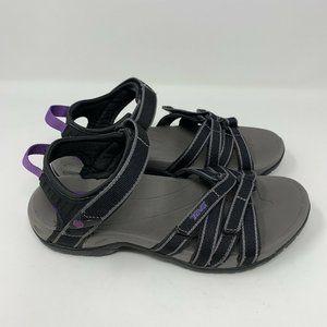 Teva Tirra Outdoor Hiking Sandals Black Gray 7.5M